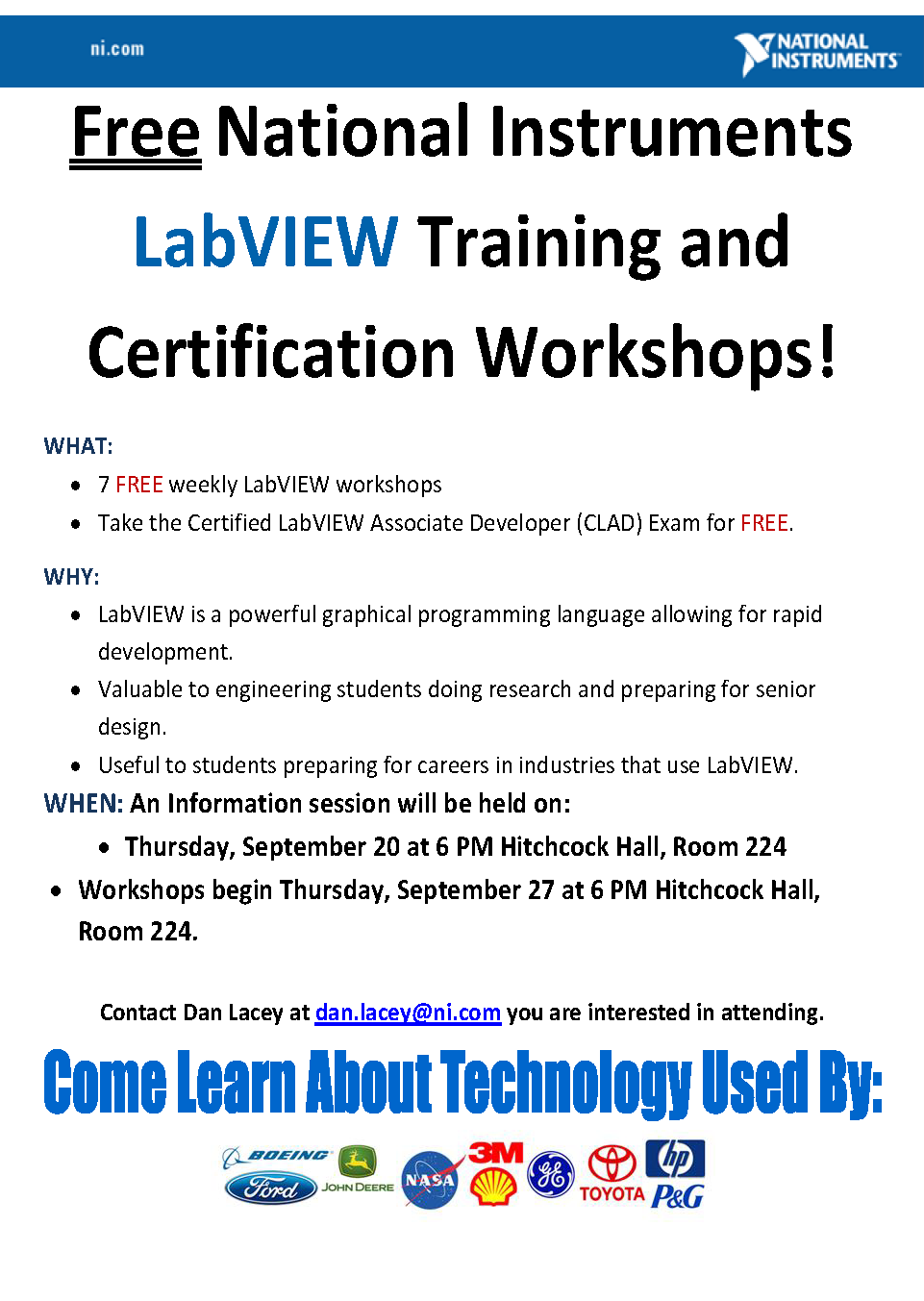Free National Instruments Labview Training And Certification