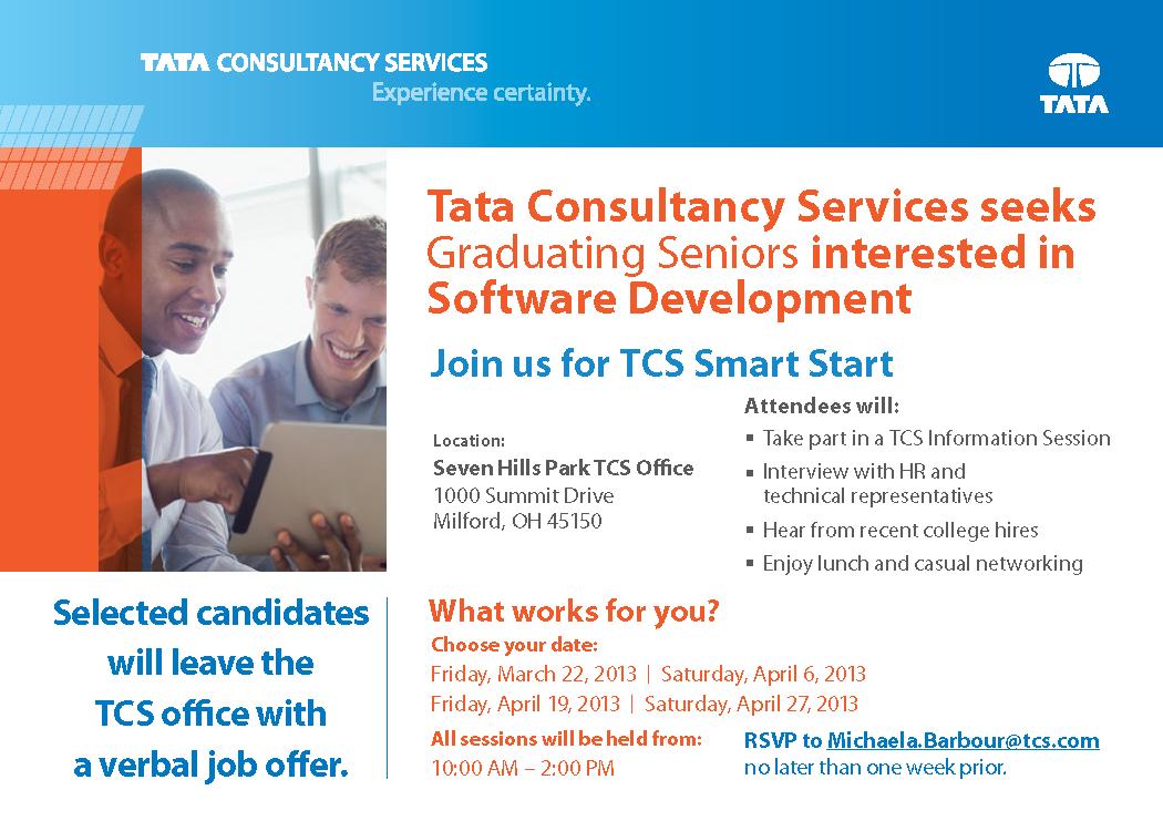 Tata Consultancy Services Smart Start | Engineering Career