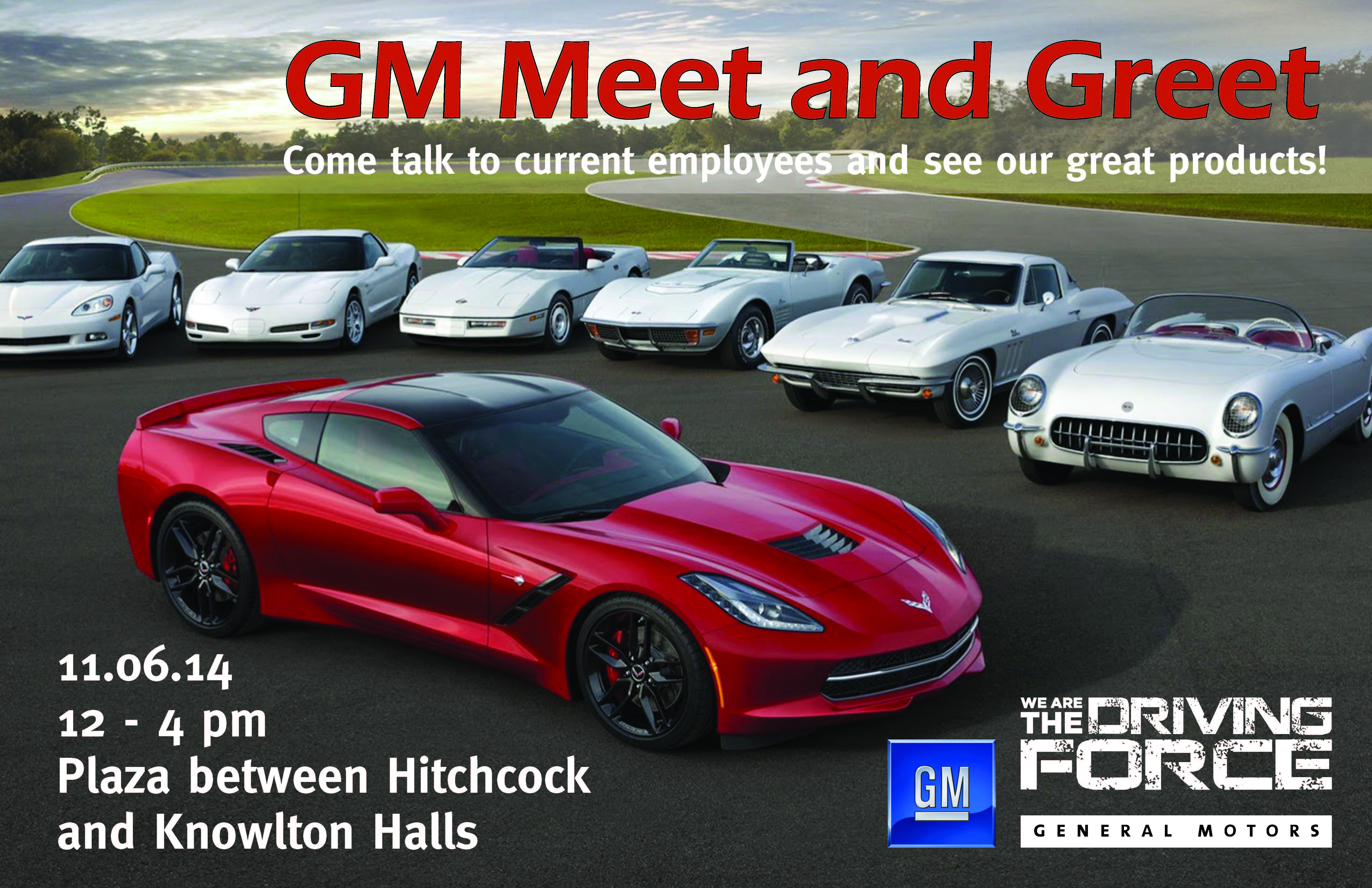 event information with pictures of GM cars
